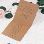 Unique rustic laser cut wedding invite, fold wedding invite, barn wedding WS228