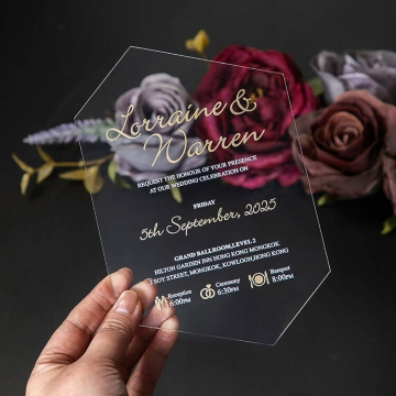 Bohemian floral vellum wedding invite, unique irregular acrylic wedding invitations, gold, plum and mauve, fall and winter wedding WS246
