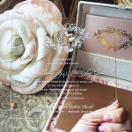 Royal style romantic acrylic wedding invitations with swirling fonts WS253
