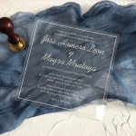 Simple clear acrylic wedding invitations WS254