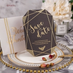 6 Styles Geometric Save the Date Cards, foil save the dates, watercolor invites, romantic, elegant STD018