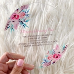 Unique round acrylic wedding invitations two styles WS288