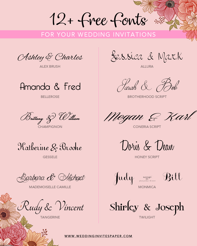 12 free wedding invitation fonts.jpg