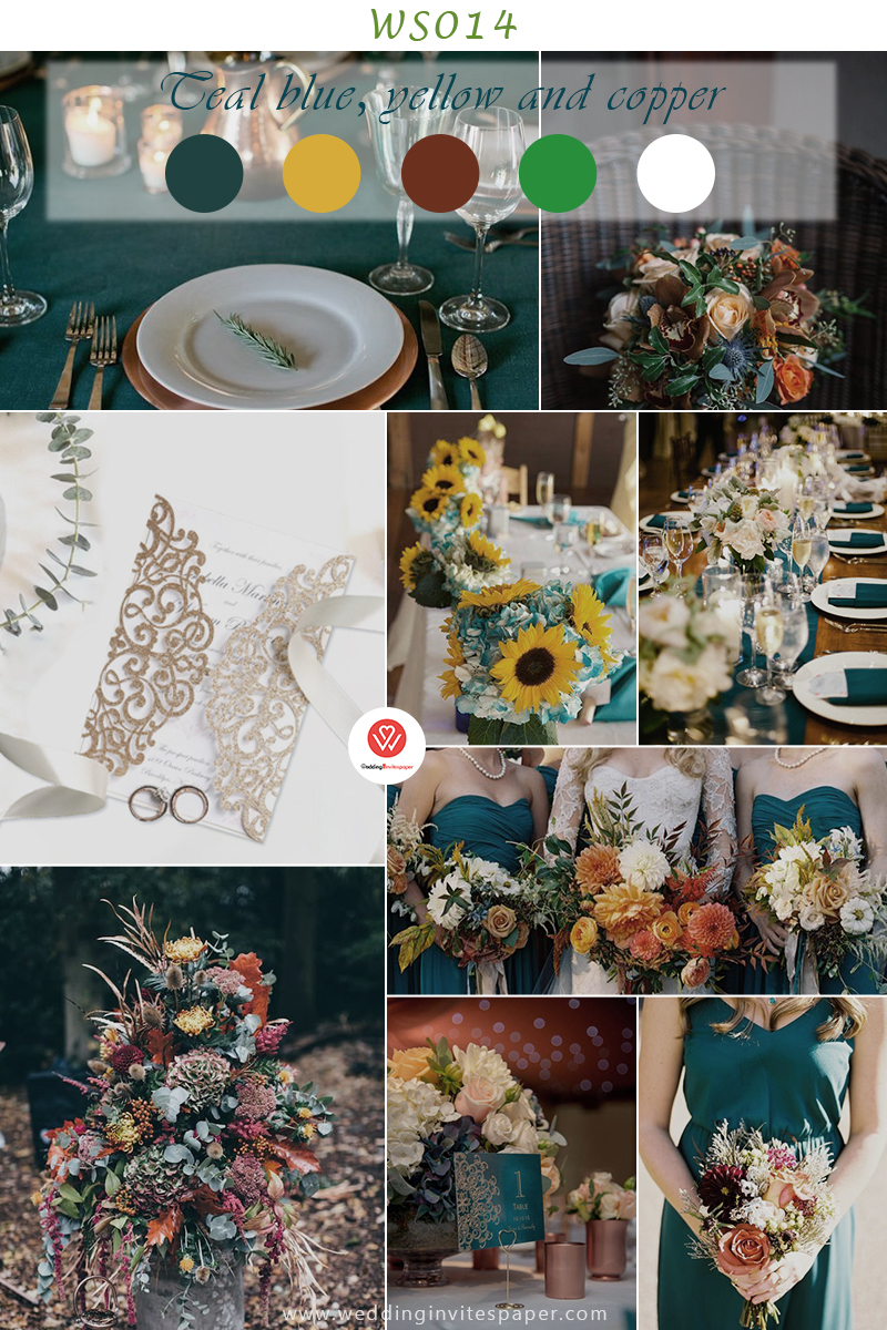 Teal blue, yellow and copper fall color schemes.jpg