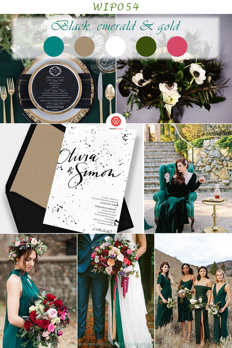 Black, emerald and gold fall wedding colros.jpg