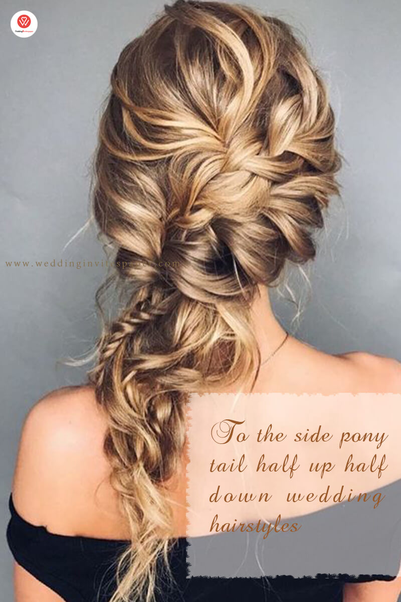 To the side  half up half down wedding hairstyles.jpg