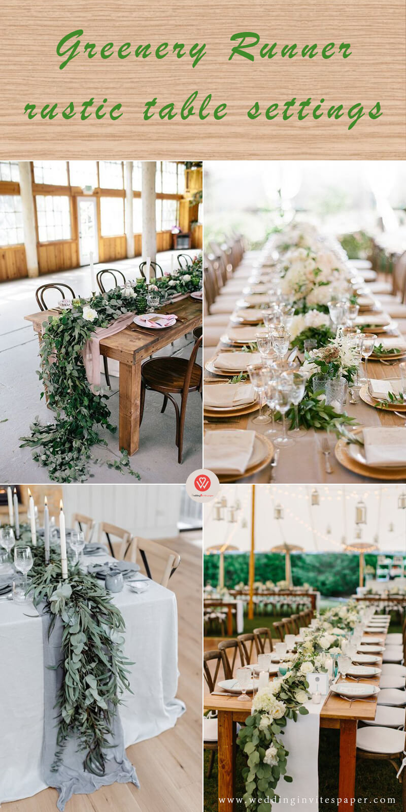 1 Greenery Runner rustic table settings.jpg