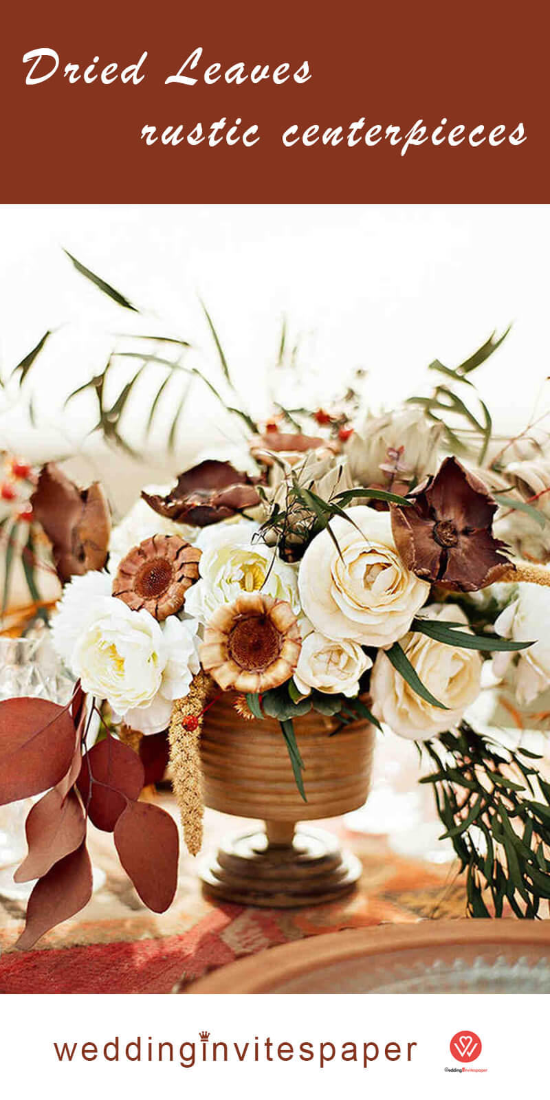15 Dried Leaves rustic centerpieces.jpg