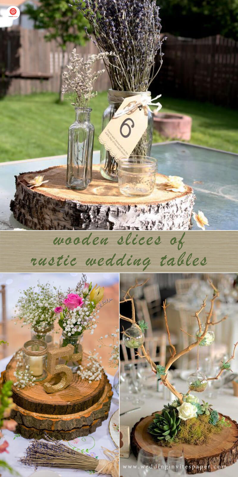 22 wooden slices of rustic wedding tables.jpg