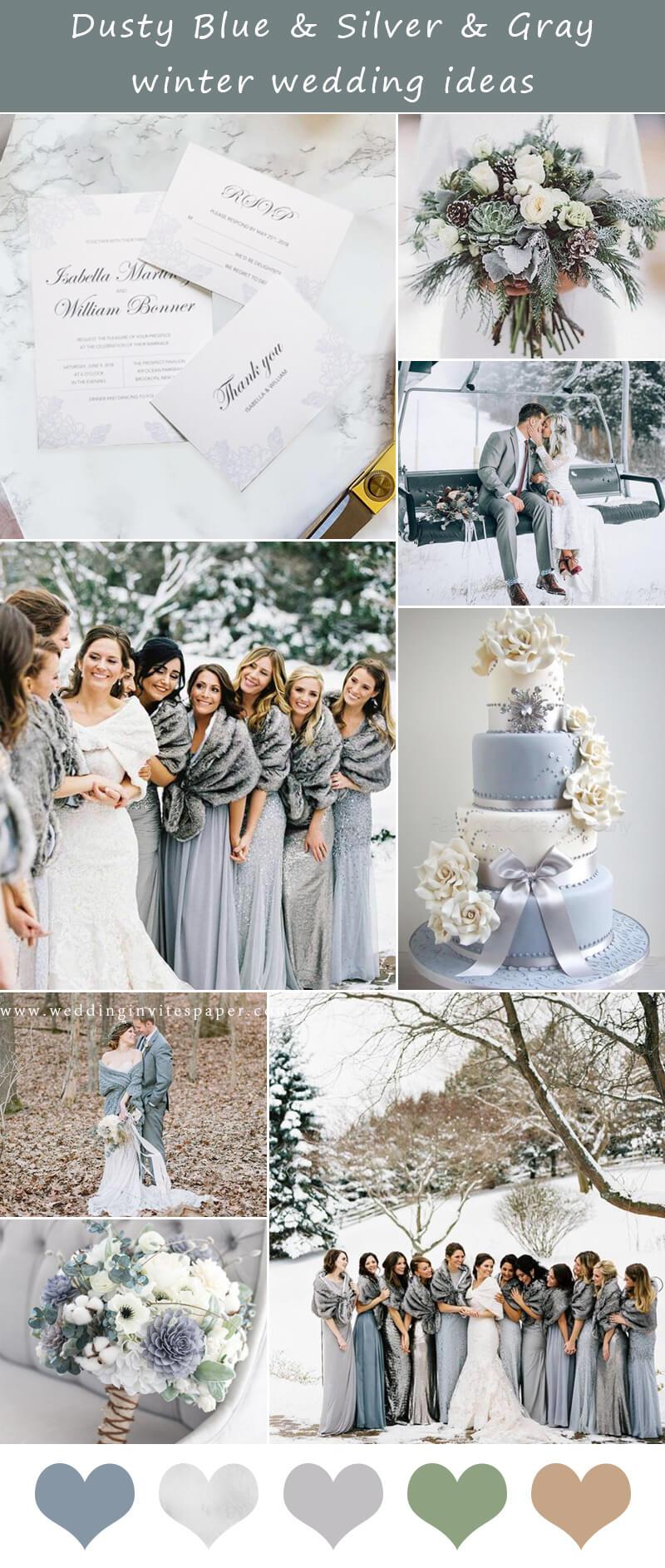 Dusty Blue & Silver & Gray winter wedding ideas.jpg