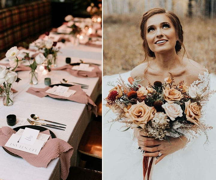 Top 8 Stunning Blush Wedding Color Palettes for 2020 Fall