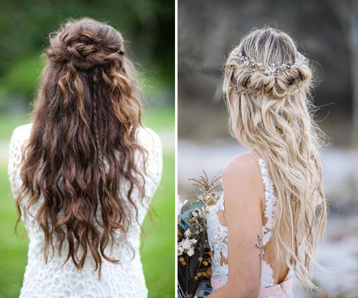 28 Captivating Half Up Half Down Wedding Hairstyles you Won't Miss Out
