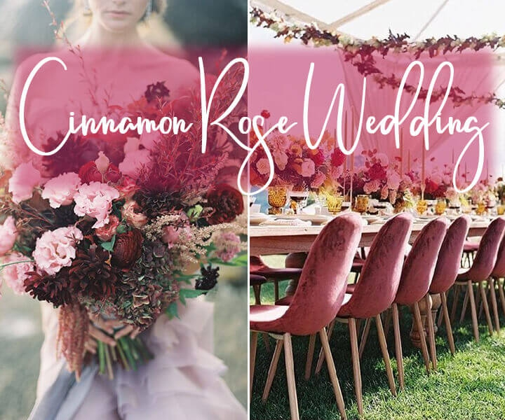 Top 7 Trendy Cinnamon Rose Color Palettes for Wedding 2020