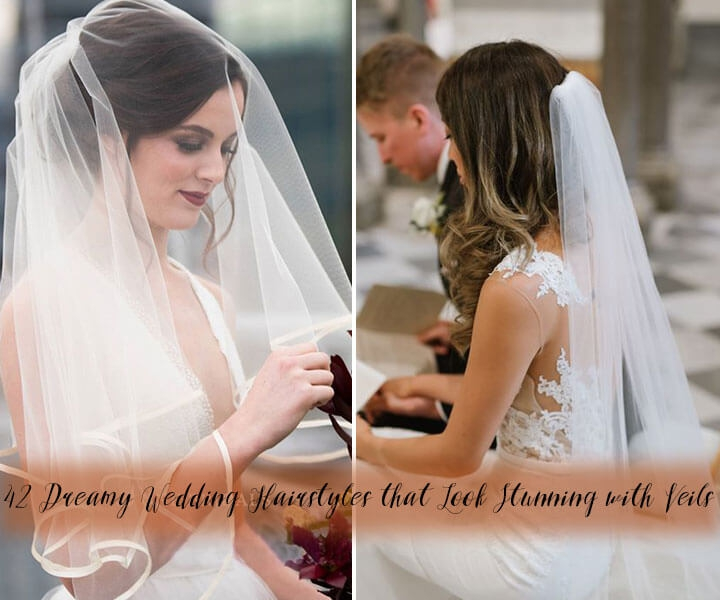42 Dreamy Wedding Hairstyles that Look Stunning with Veils