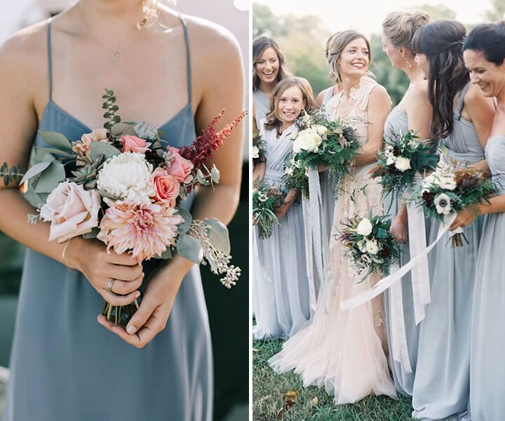 Top 5 Dusty Blue Wedding Color Schemes for 2020 Trends