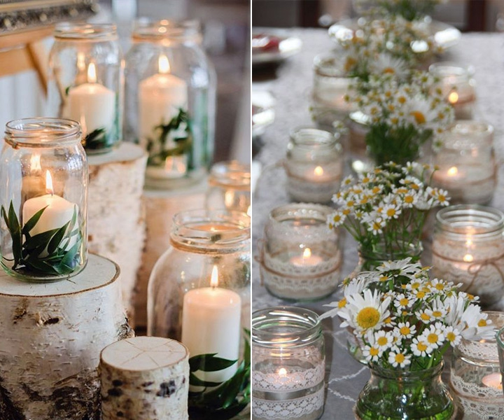 70+ Ideas to Incorporate Mason Jars to Weddings