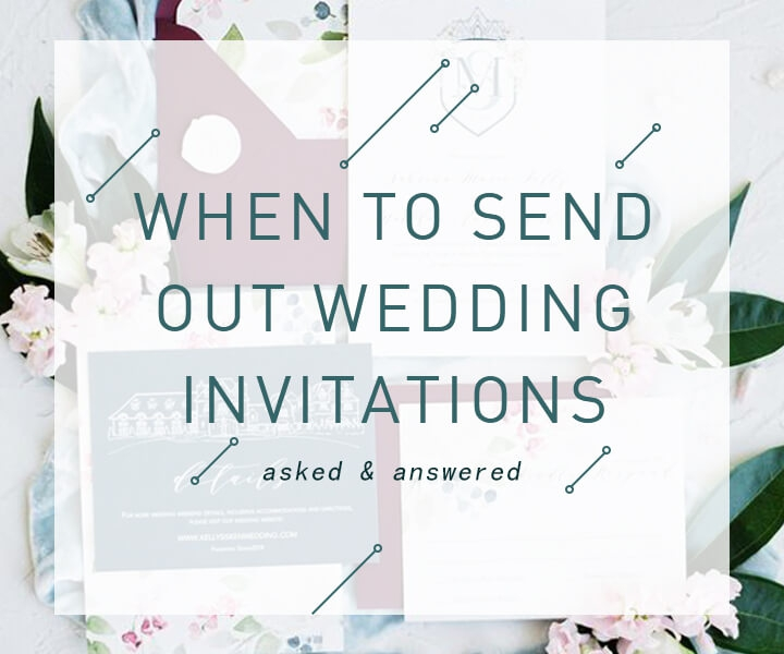 Wedding Invitation Etiquette-When Should You Send Out Wedding Invitations