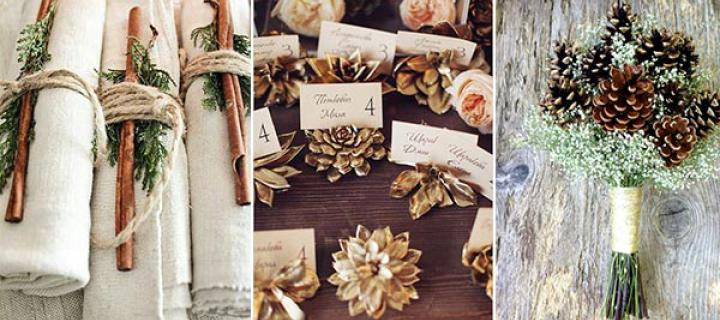 4 Pinecone Rustic Winter Wedding Ideas You Will Heart