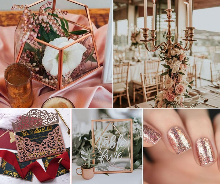 7 Amazing Rose Gold Wedding Color Ideas to Steal in 2020