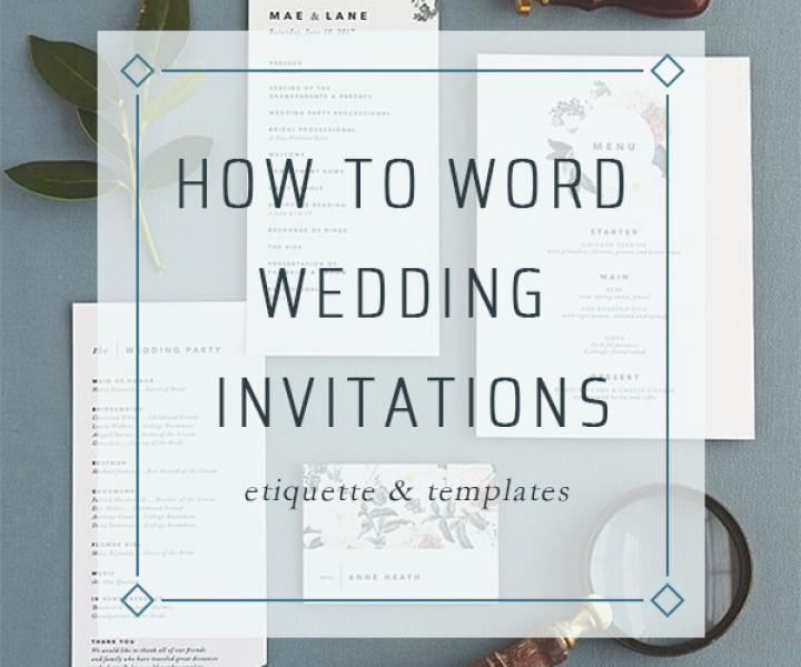 31  Wedding Invitations Wording Templates | Etiquette & Tips