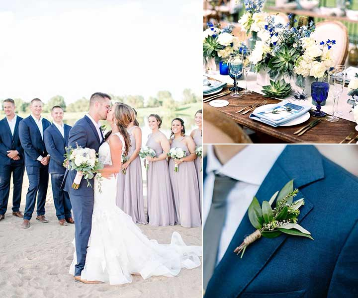 Top 5 Early Spring Navy Blue Wedding Color Palettes You Will Crash On