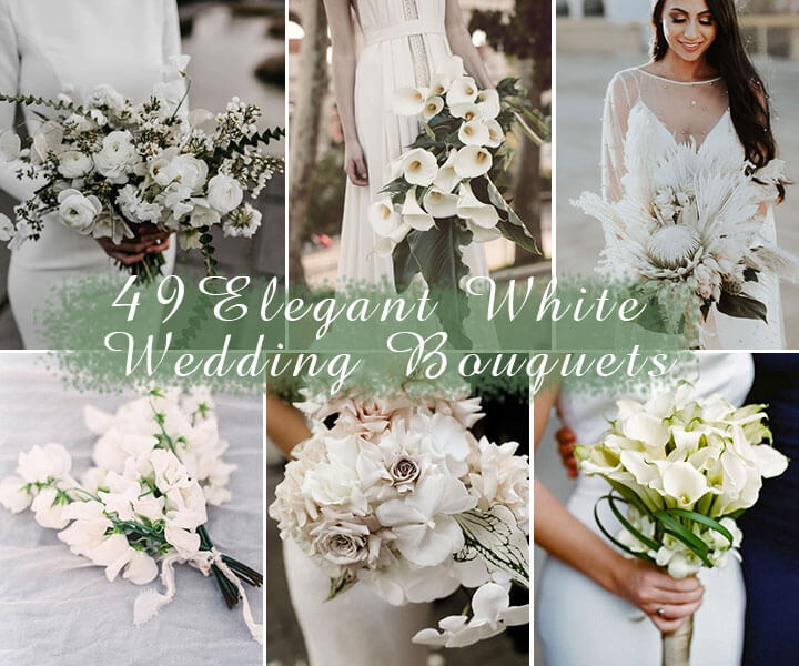 49 Innocently Elegant White Wedding Bouquets to Set Your Big Day Apart