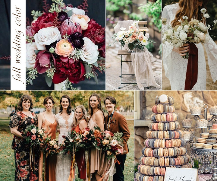 Top 9 Fall Wedding Color Schemes for 2019—The #5 is Gorgeous
