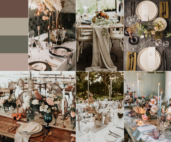 30+ Earthy Neutral Wedding Centerpieces to Catch Your Eyes