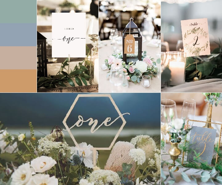 18 Fabulous Wedding Table Number Templates to Make Your Own