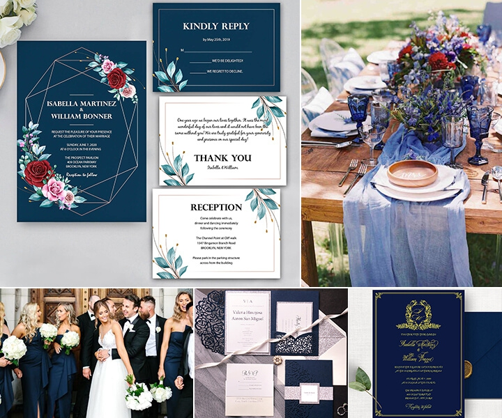 Top 10 Trendiest Navy Blue Wedding Invites from WIP-part two