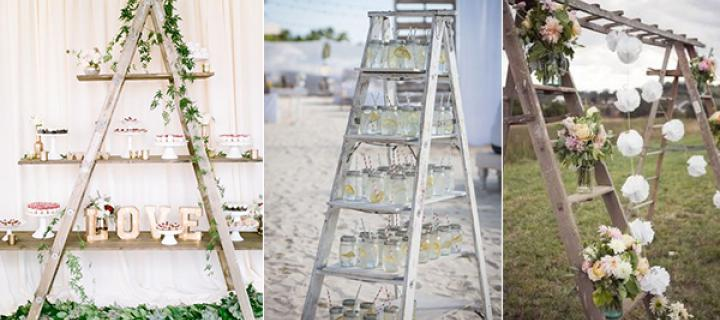 When brides want to have stylish and chic wedding without breaking bank they will think of many exciting shabby rustic wedding decors they could DIY or ... & 20 CREATIVE SHABBY CHIC LADDER WEDDING DECORATION IDEAS - Wedding ...