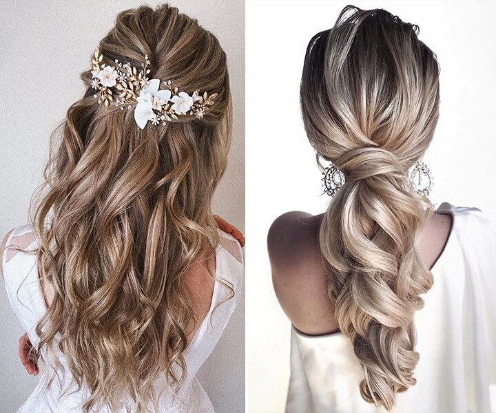 100+ Half Up Half Down Wedding Hairstyles to Swoon Over