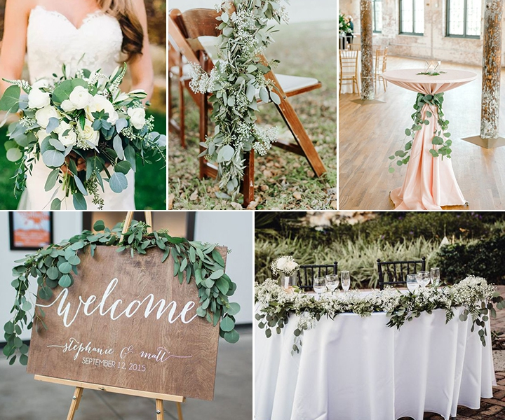 Stunning 5 Ways to Incorporate Eucalyptus into Weddings
