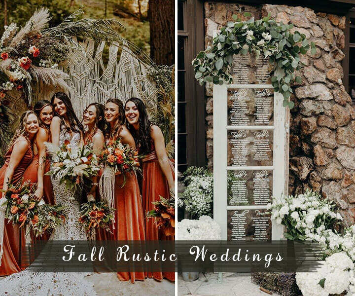 Top 9 Rustic Wedding Ideas to Rock Your Fall Weddings
