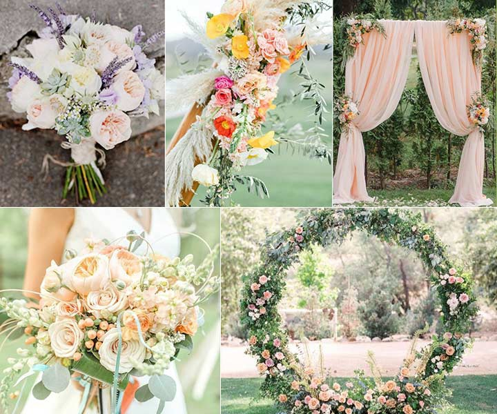 2020 Top 7 Peach Wedding Color Palettes That Are Radically Amazing