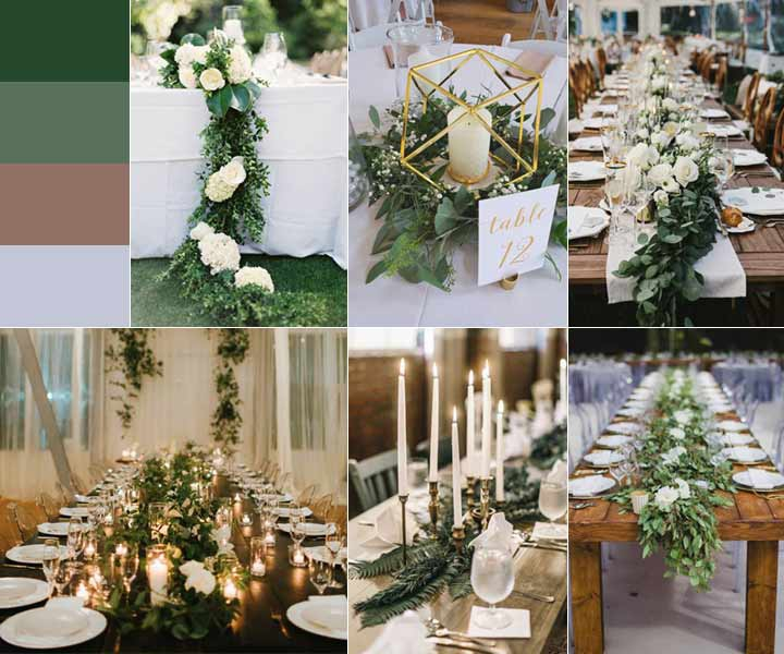 Greenery Weddings: Trendiest 9 Ways You Should Know to Arrange the Centerpieces