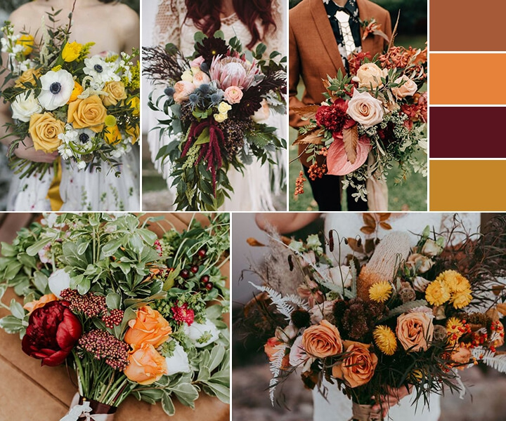 The Ultimate Autumnal Wedding Guide—How to choose fall wedding flowers