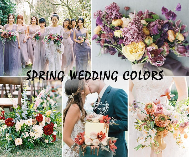 6 Sweet Spring Wedding Color Ideas for Our Favorite Season